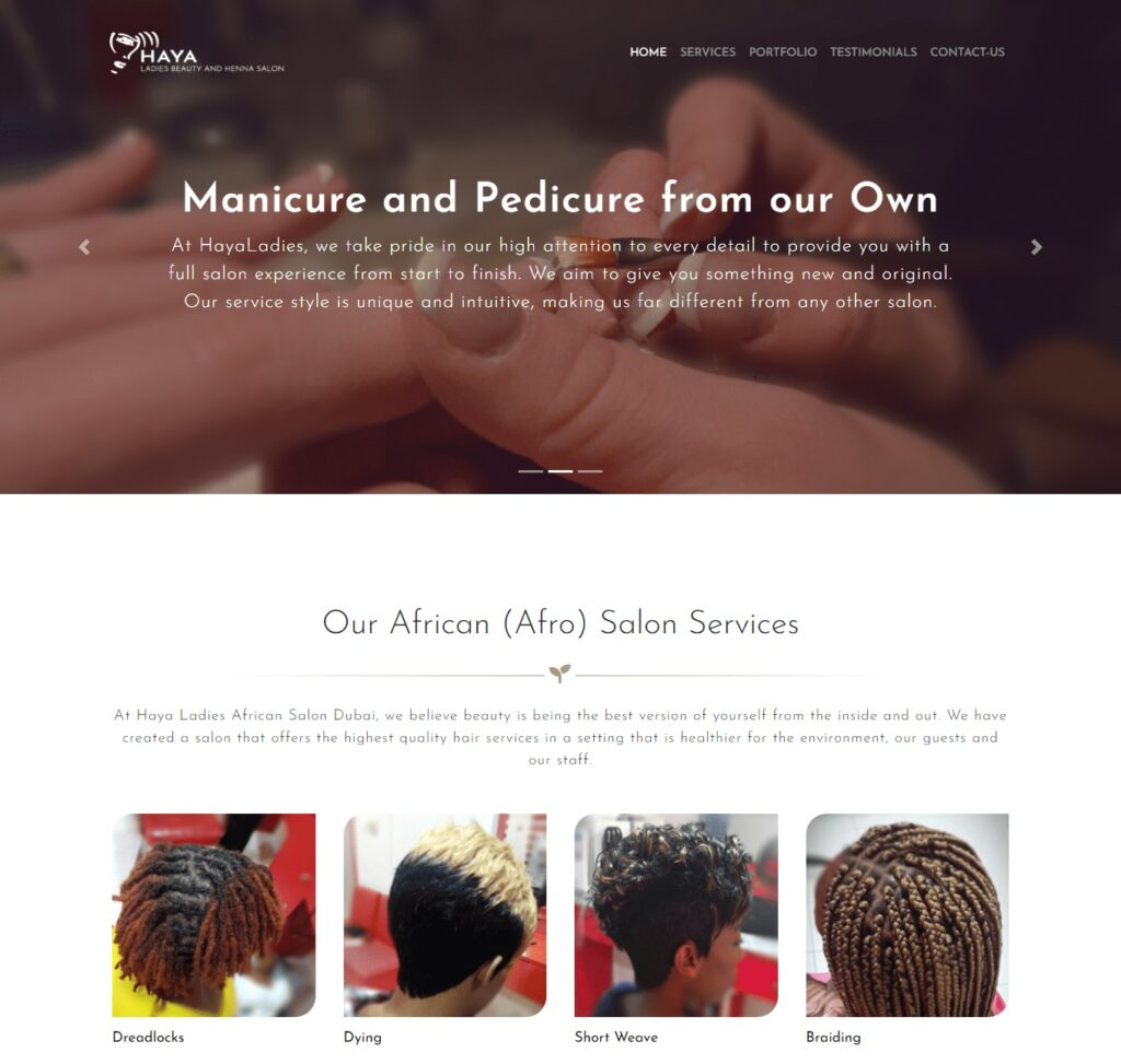 Responsive one-page website